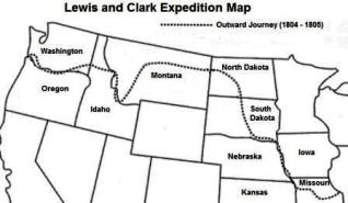 Lewis and cClark Expedition: Jounal Dates July 8, 1805 - July 12, 1805